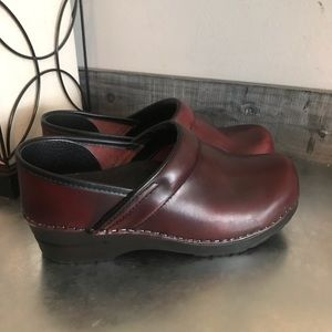 Dansko professional clogs reddish brown